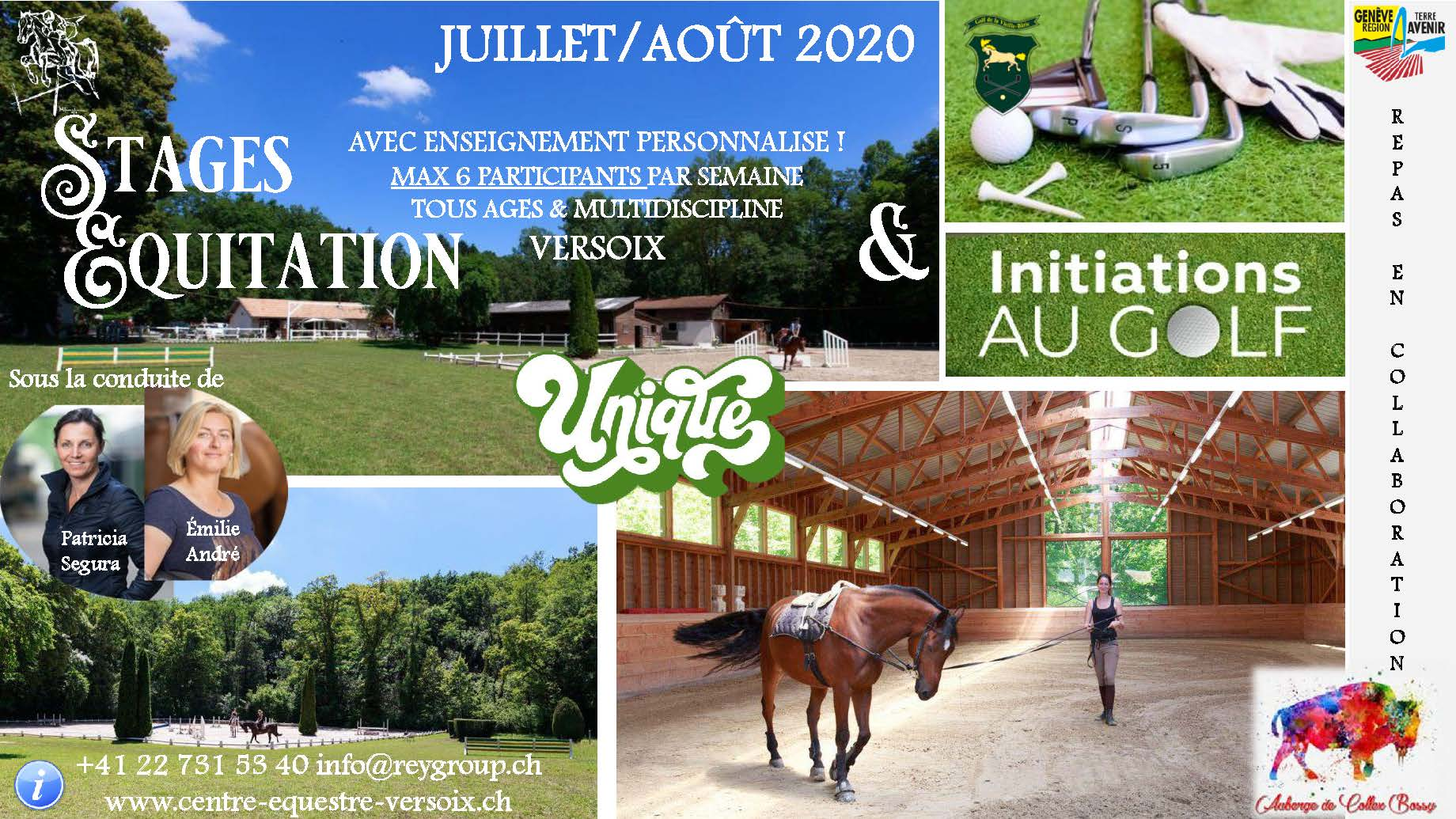 Offre stage equitation 2020